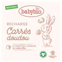 Recharge Carrés Doudou - 8 lingettes - certifié GOTS
