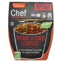 Chef Piperrada - Pimenta de Espelette, Arroz Integral, Arroz Vermelho e Lentilhas