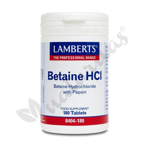 Betaina HCL 324 mg con Pepsina 5 mg 180 comprimidos de Lamberts