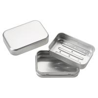 Porte-savon en aluminium avec égouttoir