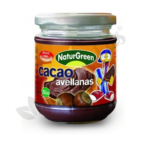 Crema de Avellana de Cacao Bio 200 gr de Naturgreen
