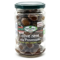 Whole black olives in Provencal oil
