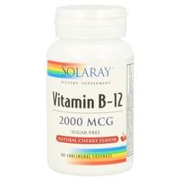 Vitamina B12 90 comprimidos sublinguales de 2000 mcg de Solaray - Kal