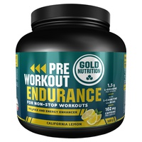 Pre-Workout Endurance Limón 300 gr de Gold Nutrition