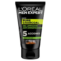 Men expert pure charcoal gel limpiador purificante