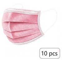 Pink Triple Layer Protection Masks 10 units