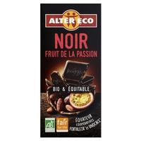 Chocolate negro con fruta de la pasión bio