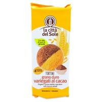 Ciastka z pszenicy durum urozmaicone kakao