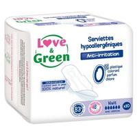 Love & Green Serviettes nuit hypoallergà © niques x10
