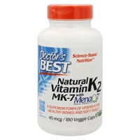 Natural Vitamin K2 MK7 with MenaQ7, 45mcg