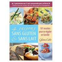 """Libro de Recetas """"4 saisons sans gluten & sans lait"""" de Christine Calvet"""