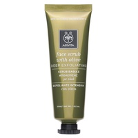 Exfoliating facial mask with olive