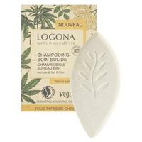 Shampoo de cânhamo orgânico sólido e sabugueiro