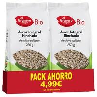 Confezione di riso integrale soffiato biologico