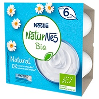 Nestlé Naturnes BIO Natural Dairy Sobremesa Tina 6m +