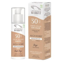 Light color sun facial cream SPF30