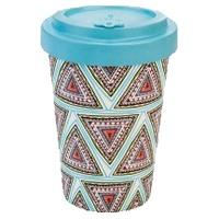 Aztec Blue Bamboo Mug