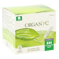 Tampons with compact applicator of plant origin - super