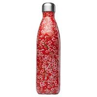 Inox bottle one wall 500ml Red Flowers