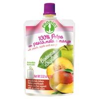 Doypack 100% pulpe avec pêche, pomme et mangue