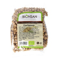 Organic chickpeas in grain