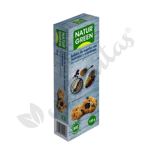 Galletas de Espelta con Manzana y Arándanos Bio 150 gr. de Naturgreen