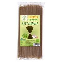 Spaguettis de Ajo y Albahaca Bio