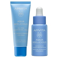 Aqua Beelicious Oil-free moisturizing cream-gel with a light texture + hydrating and refreshing mini Booster gift Pack