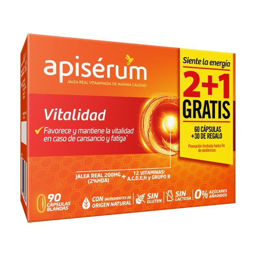 Pack apiserum vitalidad 2+1 gratis