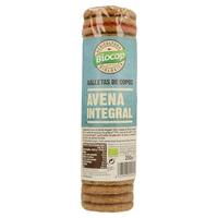 Galletas copos de avena integral