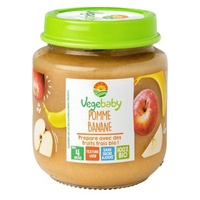 Baby Vegebaby Apple Banana 4 months jars