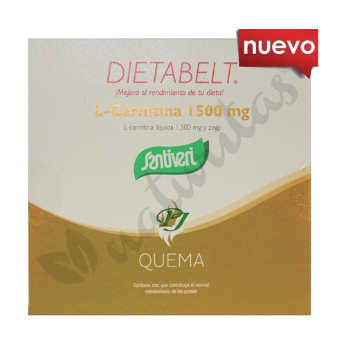 Dietabelt L-Carnitina 1500 mg 10 viales de 10 ml de Santiveri