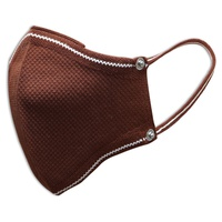 Brown Reusable Hygienic Mask