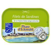 Sardine fillets in organic olive oil