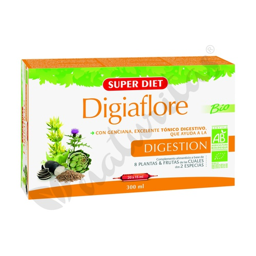 Digiaflore Agbio 20 ampollas de Super Diet