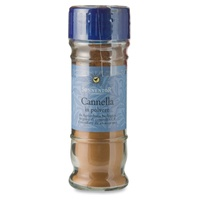 Ground cinnamon in jar