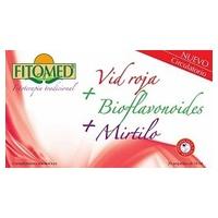 Vid Roja, Bioflavonoides y Mirtillo