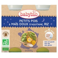 Petits Pots Bonne Nuit Petits Pois-Maïs-Riz Bio (przez 6 miesięcy)