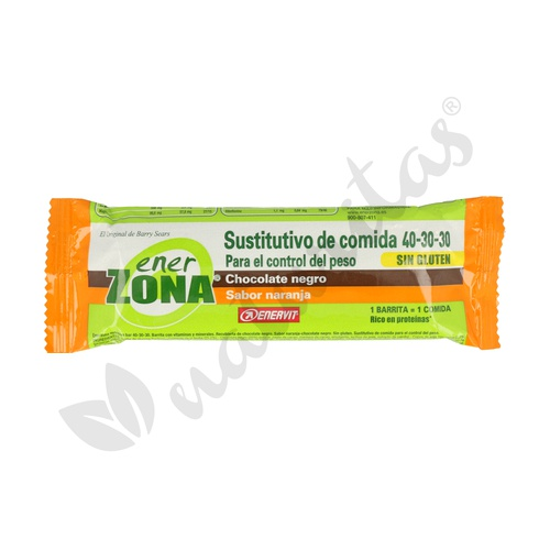 Barrita Sustitutiva 40-30-30 Chocolate Negro (Sabor Naranja)