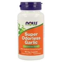 Super Odorless Garlic 5000mg Ajo con Extracto de Espino Blanco y Cayena