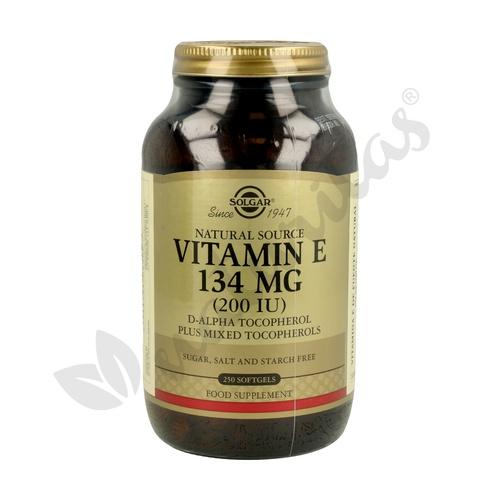 Vitamina E 250 cápsulas de 134 mg de Solgar
