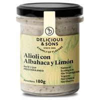 Organiczne alioli z bazylią i cytryną