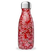 Botella Isotérmica Inox - Flores rojas