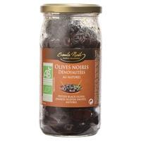 Olives denoyautées noires au naturel bio