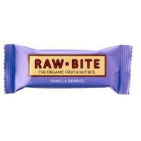 Superbarritas Veganas Raw-Bite (Vainilla-Frutas del Bosque) 1 barrita de 50grs de Vitafood Raw