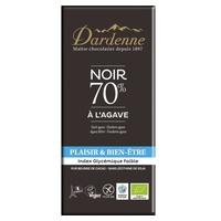 Tableta de chocolate negro 70% y agave