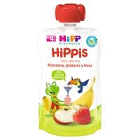 Bio-Apfel-, Bananen- und Erdbeer-Beutel