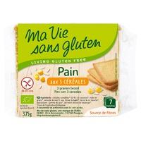 Organic 3 cereal bread