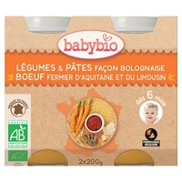Menù Verdure Pentolini Pasta Bolognese Manzo Biologico (da 6 mesi)