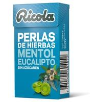 Ricola Perlen von Eukalyptus Menthol ohne Zucker